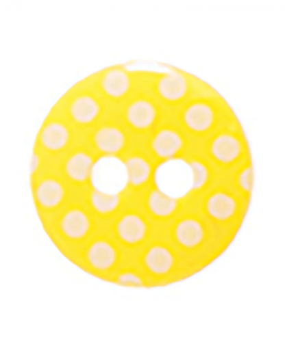 Round Spot Button Size 20 (12mm) - Yellow (4)