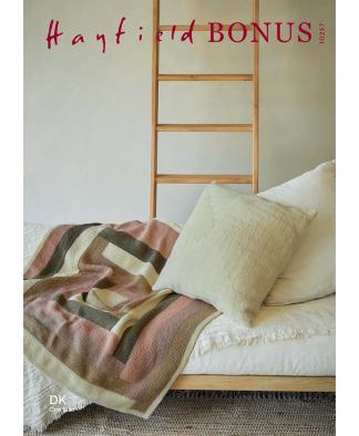 Sirdar 10257 Log Cabin Blanket & Cushion in Hayfield Bonus DK