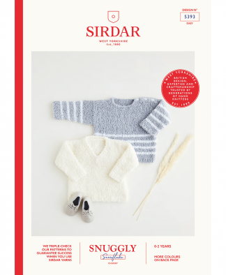 Sirdar 5393 Sweaters in Snuggly Snowflake Chunky