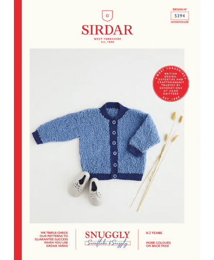 Sirdar 5394 Jacket in Snuggly Snowflake Chunky