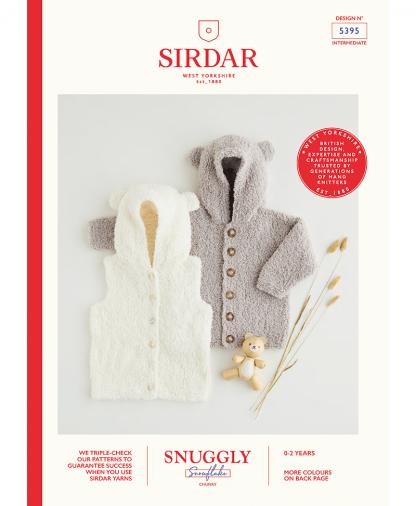 Sirdar 5395 Hooded Gilet & Jacket in Snuggly Snowflake Chunky