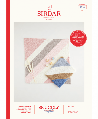 Sirdar 5398 Diagonal Knitted Blanket in Snuggly Snowflake Chunky