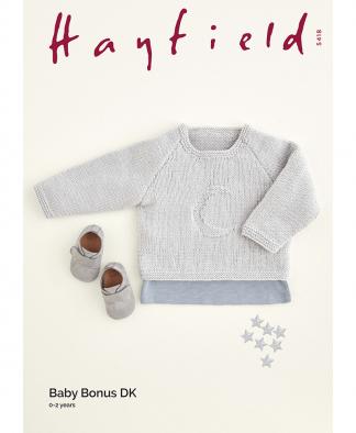 Sirdar 5418 Crescent Moon Sweater in Hayfield Baby Bonus DK