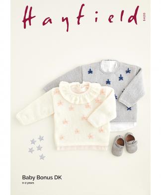 Sirdar 5420 Embroidered Star Sweaters in Hayfield Baby Bonus DK
