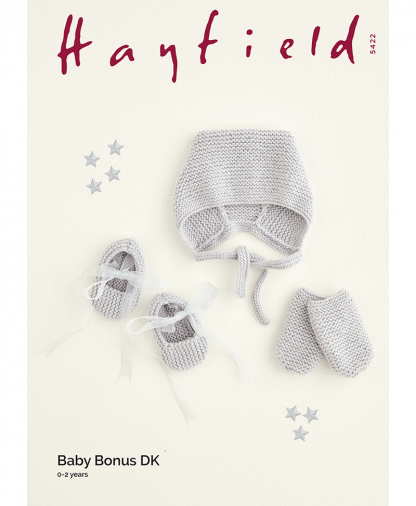 Sirdar 5422 Hat, Mittens & Booties in Hayfield Baby Bonus DK