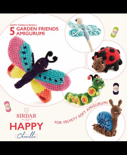 Sirdar Happy Chenille Book 6 - Garden Friends (BK561)
