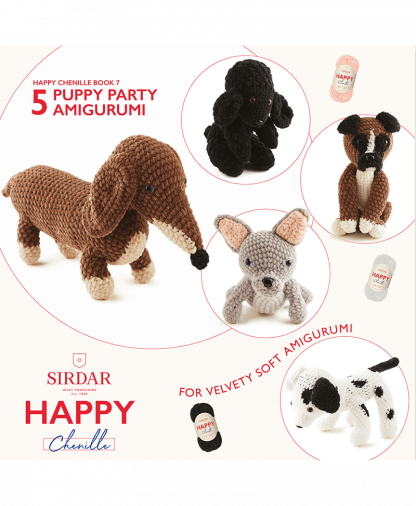 Sirdar Happy Chenille Book 7 - Puppy Party (BK560)