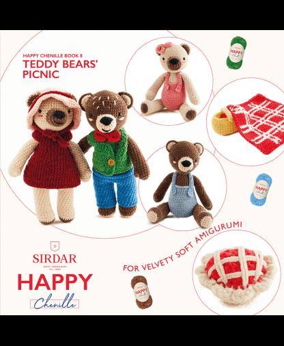 Sirdar Happy Chenille Book 8 - Teddy Bears Picnic (BK562)