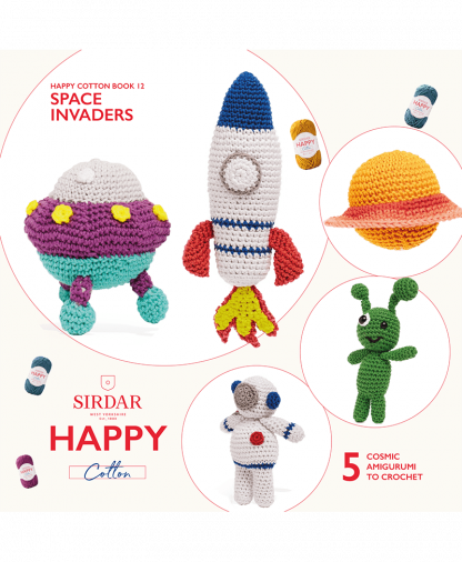 Sirdar Happy Cotton - Book 12 - Space Invaders (BK542)