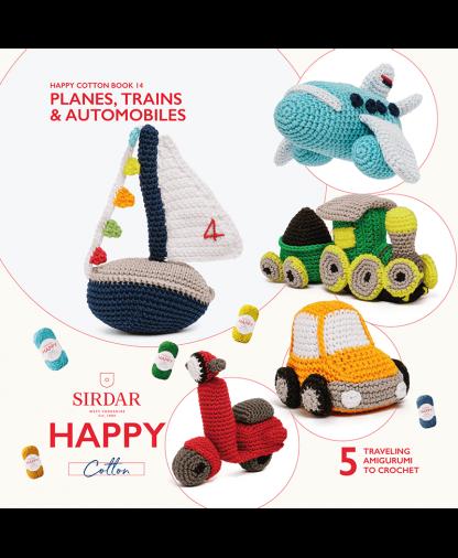 Sirdar Happy Cotton - Book 14 - Planes, Trains & Automobiles (BK544)