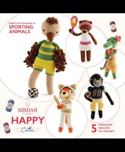 Sirdar Happy Cotton - Book 18 - Sporting Animals (BK557)