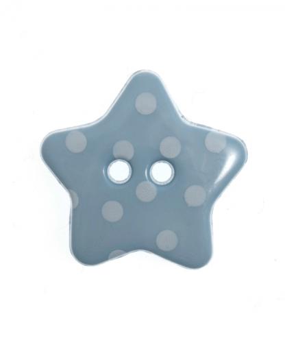 Spotty Star Button - 28 Lignes (18mm) - Light Blue (15)