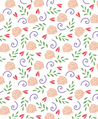 The Craft Cotton Co - Cute Floral Fabric Collection - White Ditsy (2644-03)