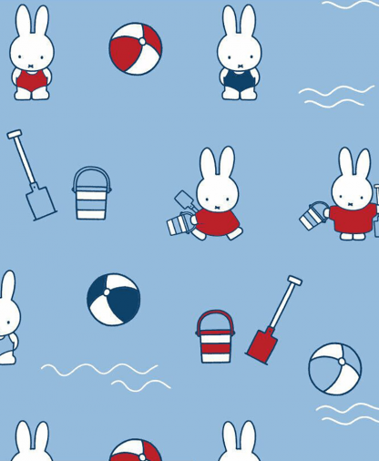 Craft Cotton Co - Miffy Fabric Collection - At the Beach (2502-04)