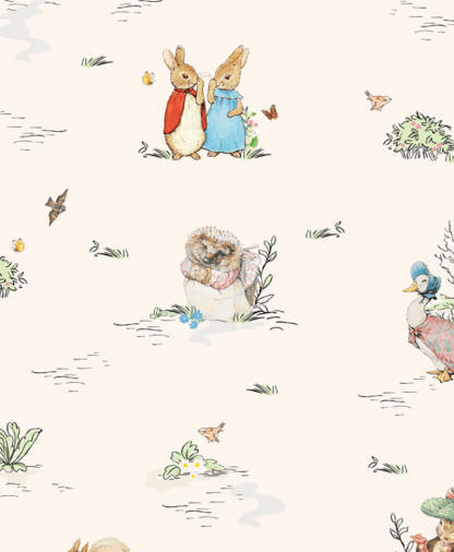 Craft Cotton Co - Peter Rabbit & Friends - Fabric Collection - 02 Peter and Friends (2812-02)