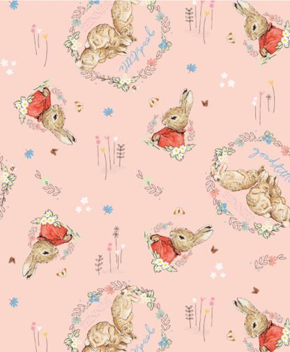 Craft Cotton Co - Peter Rabbit & Friends - Fabric Collection - 04 Good Little Bunnies (2812-04)