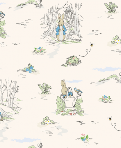 Craft Cotton Co - Peter Rabbit & Friends - Fabric Collection - 05 Outdoor Adventure (2812-05)