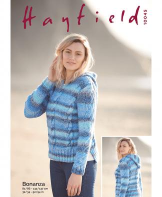 Sirdar 10045 Sweater in Hayfield Bonanza Chunky