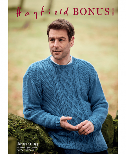 Sirdar 10078 Mans Sweater in Bonus Aran