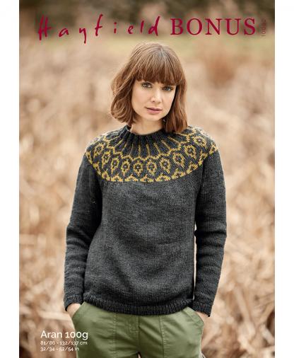Sirdar 10082 Sweater in Bonus Aran