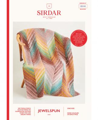 Sirdar 10141 Knitted Bias Blanket in Sirdar Jewelspun