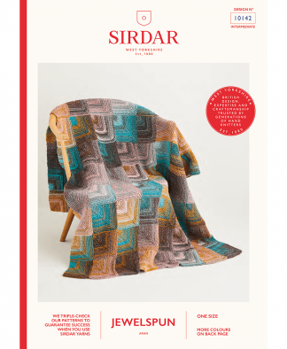Sirdar 10142 Knitted Domino Blanket in Sirdar Jewelspun