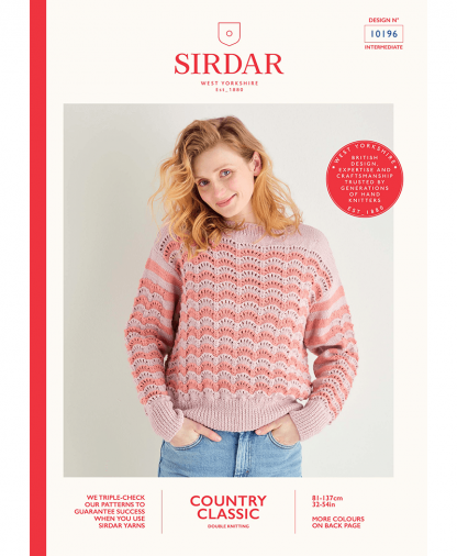 Sirdar 10196 Lace Chevron Sweater in Sirdar Country Classic DK