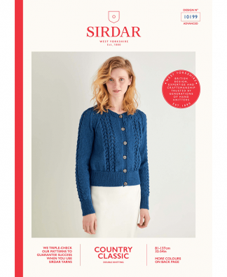 Sirdar 10199 Lace Textured Cardigan in Sirdar Country Classic DK