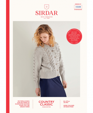 Sirdar 10200 Lace and Bobble Cardigan in Sirdar Country Classic DK