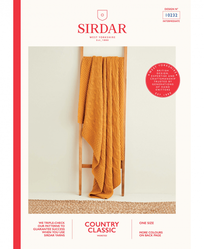 Sirdar 10232 Diamond Textured Blanket in Sirdar Country Classic Worsted