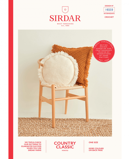 Sirdar 10233 Crochet Chevron and Fringed Cushions in Sirdar Country Classic Worsted
