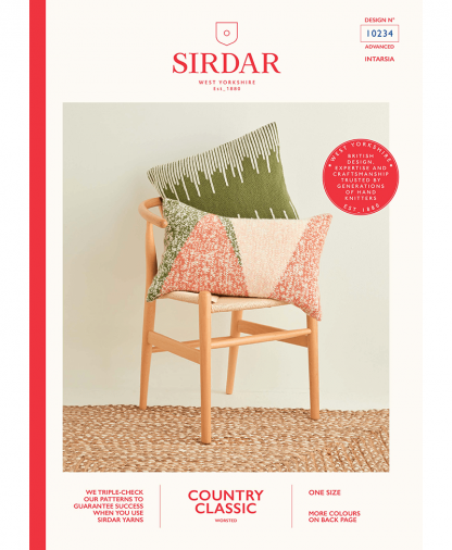 Sirdar 10234 Swiss Darned and Intarsia Cushions in Sirdar Country Classic Worsted