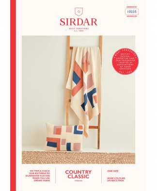 Sirdar 10235 Geometric Shapes Blanket and Cushion in Sirdar Country Classic Worsted