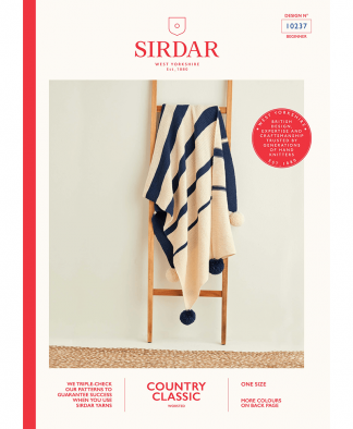 Sirdar 10237 Graduated Stripe Blanket in Sirdar Country Classic Worsted
