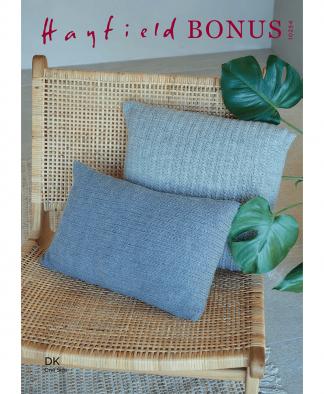 Sirdar 10254 Grass Stitch Cushions in Hayfield Bonus DK