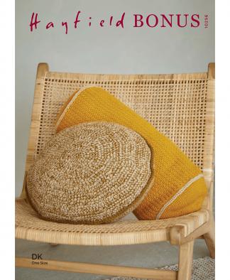 Sirdar 10256 Crochet Cushions in Hayfield Bonus DK