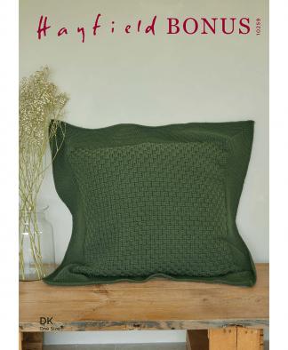 Sirdar 10259 Crochet Basket Weave Floor Cushion in Hayfield Bonus DK