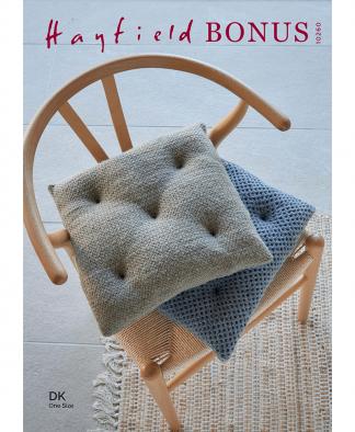 Sirdar 10260 Wicker and Honeycomb Stitch Seat Cushion in Hayfield Bonus DK