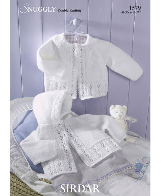 Sirdar 1579 Baby Girl's Matinee Coats in Snuggly DK