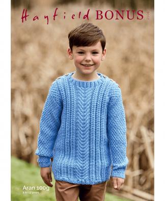 Sirdar 2506 Childrens Sweater in Bonus Aran