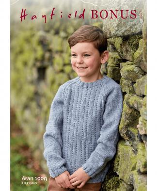 Sirdar 2507 Childs Sweater in Bonus Aran