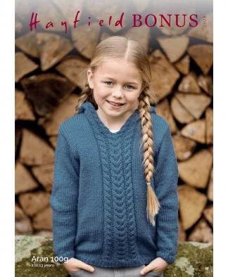 Sirdar 2509 Girls Pixie Hood Sweater in Bonus Aran