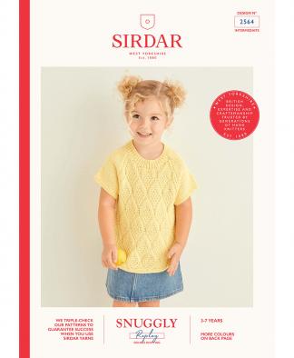 Sirdar 2564 Citrus Slice Raglan Tops in Snuggly Replay DK