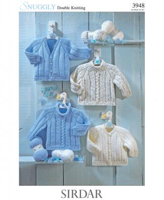 Sirdar 3948 Sweater & Cardigan in Snuggly DK