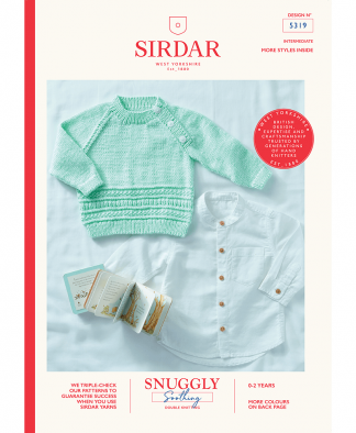Sirdar 5319 Baby Sweater in Snuggly Soothing DK