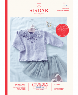 Sirdar 5320 Baby Girl's Sweater in Snuggly Soothing DK