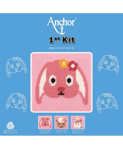 Anchor 1st Kit Needlepoint Tapestry - Happy Rabbit (20027)