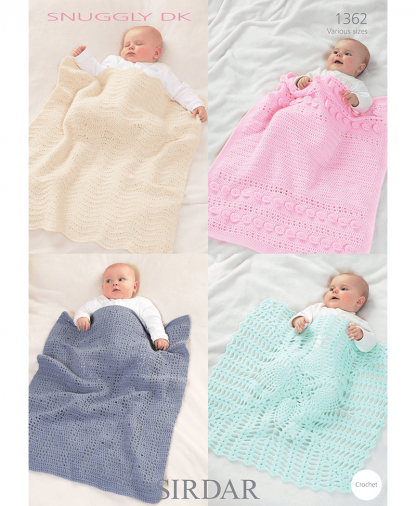 Sirdar 1362 Baby Blankets and Afghans in Snuggly DK