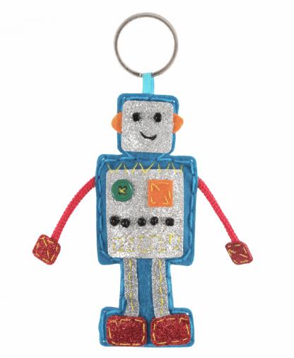 Trimits Make Your Own Felt Keyring Kit - Robot (GCK084)