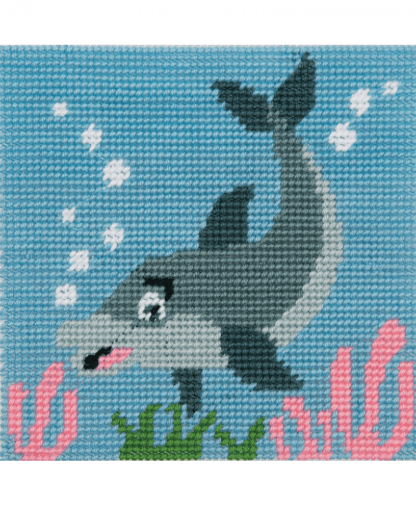 Anchor 1st Kit - Needlepoint Tapestry - Dolphin Waves (20026)